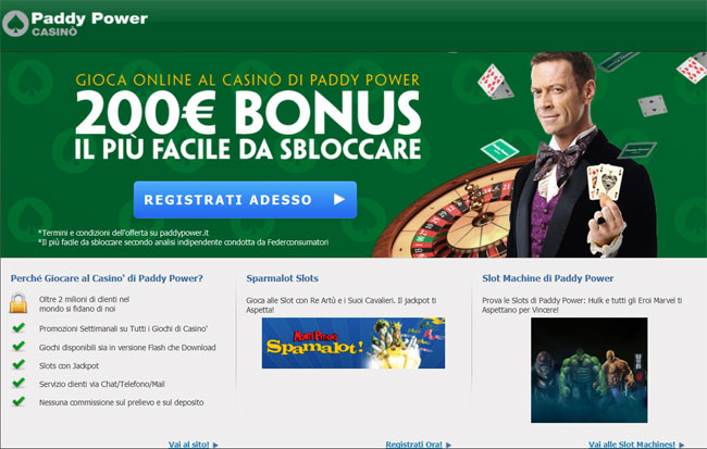 poker, slot, giochi sicuri su Paddy Power