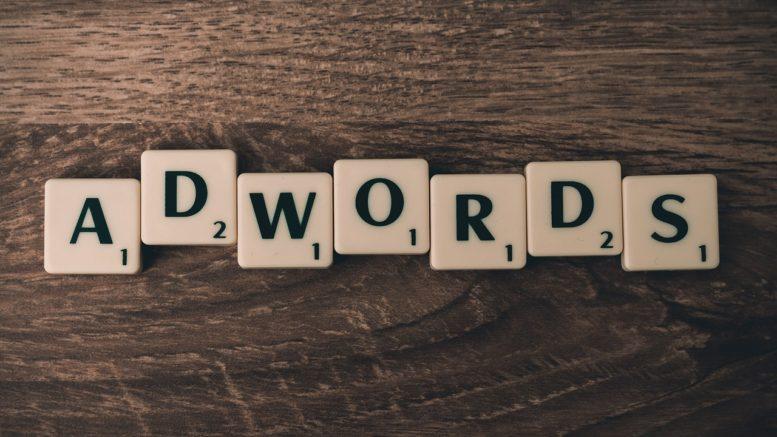 scritta adwords