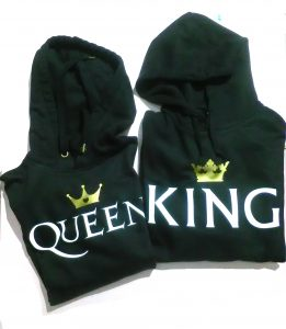acquista le felpe king queen